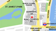 map of king charles street
